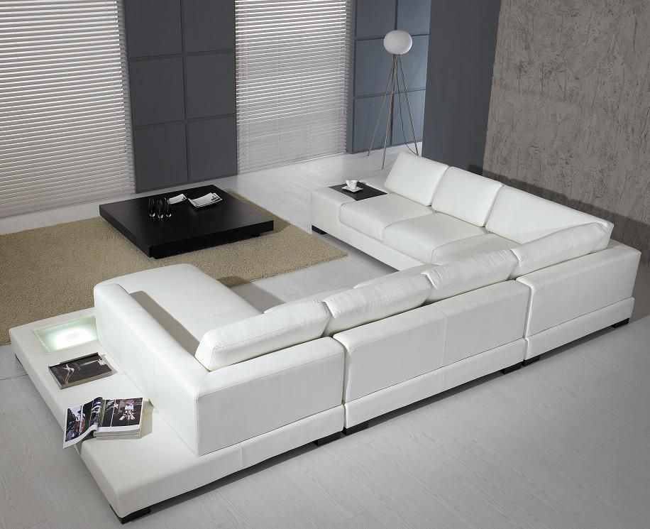 Incredible White Leather Modern Living Room Modern White Leather Ncnpc Chair Design For Home Ncnpcorg