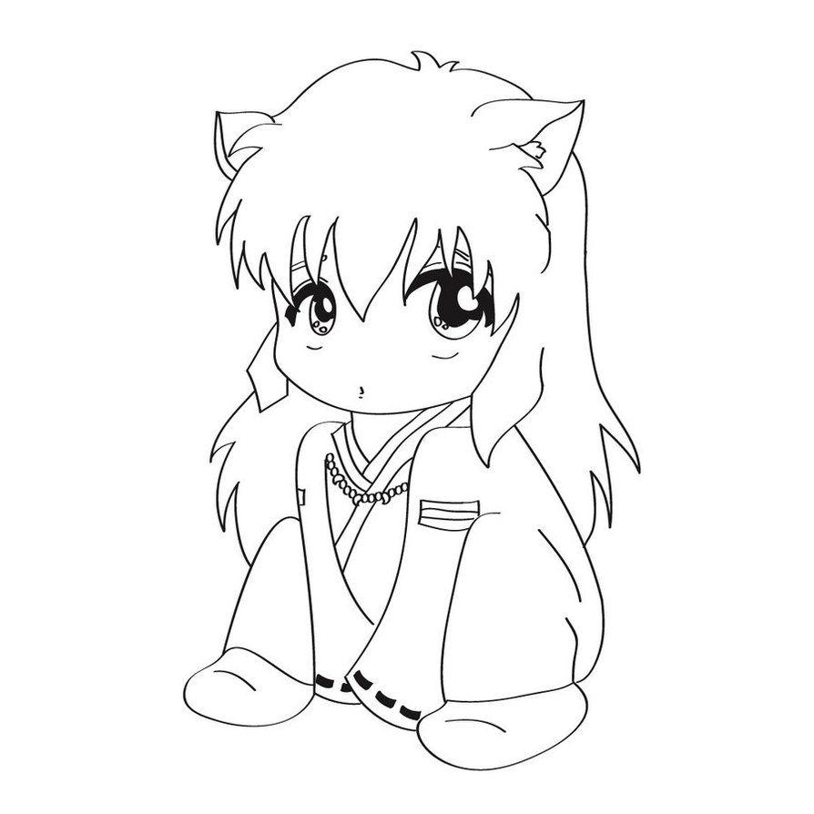 Inuyasha Chibi Lineart By Usagihikaru Jpg 894 894 Con Imagenes