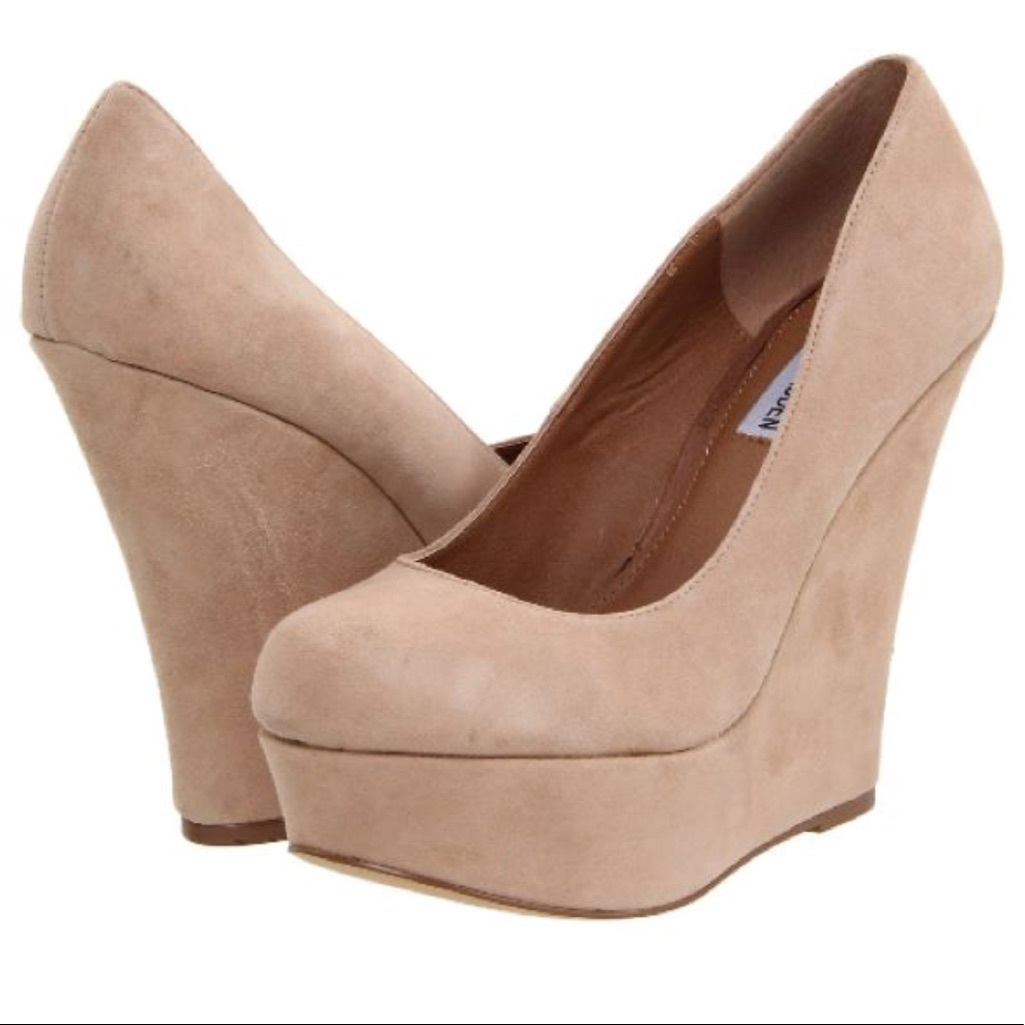144f1a67611 Steve Madden Shoes | Steve Madden Pammy Wedge | Color: Cream/Tan ...