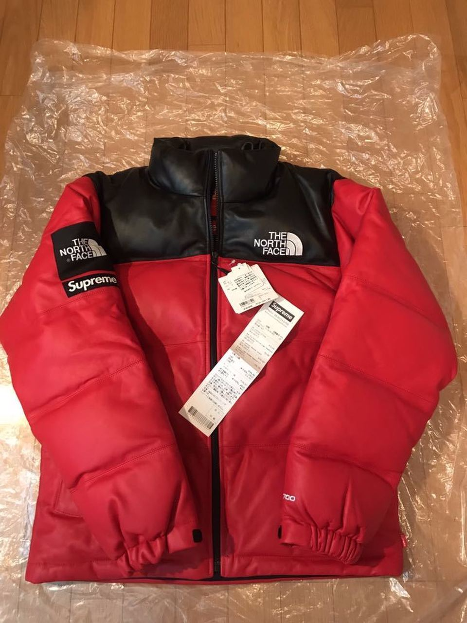 Red Supreme 17aw The North Face Leather Nuptse Jacket Red North Face Leather Npsi Down Jacket Red Jacket Nuptse Jacket Jackets [ 1280 x 960 Pixel ]