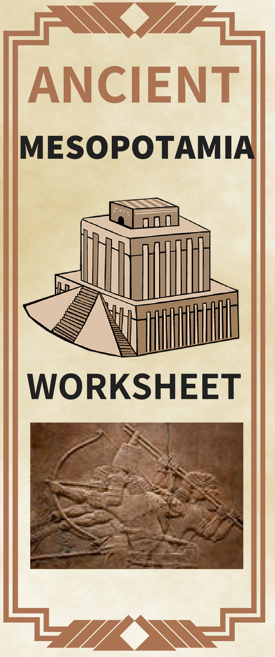 Ancient Mesopotamia Worksheet Geography Religion