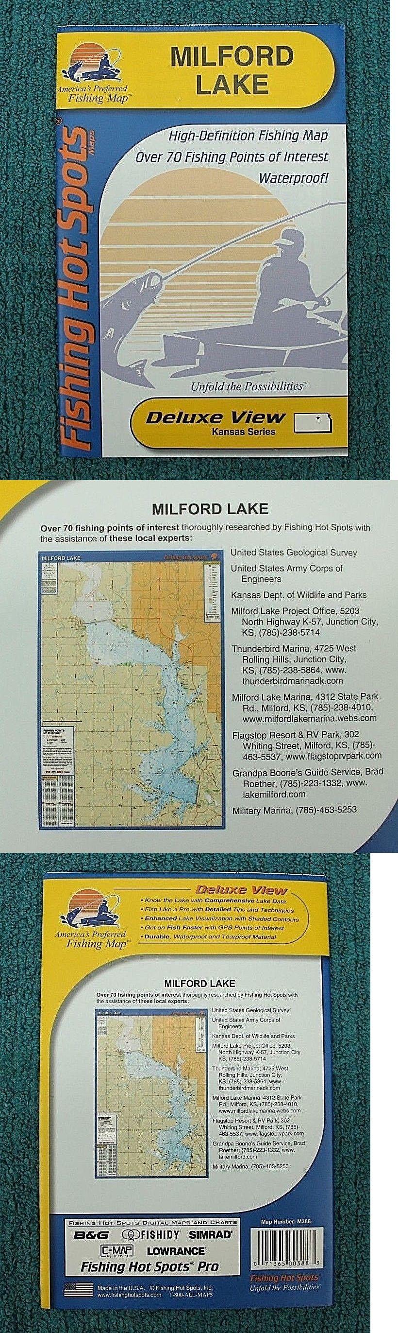 Milford Lake Kansas Map.Charts And Maps 179987 Milford Lake Kansas Fishing Hot Spots Maps