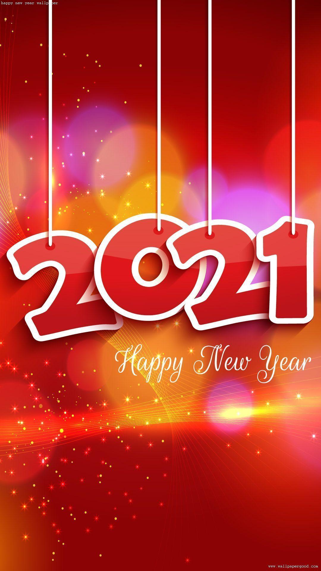Happy New Year 2021 Wallpaper Download Happy New Year Images Happy New Year Background New Year Images New year 2021 orange hd background