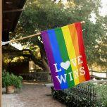 Love Wins Rainbow Pride House Flag Zazzle Com House Flag Rainbow Pride Be A Nice Human