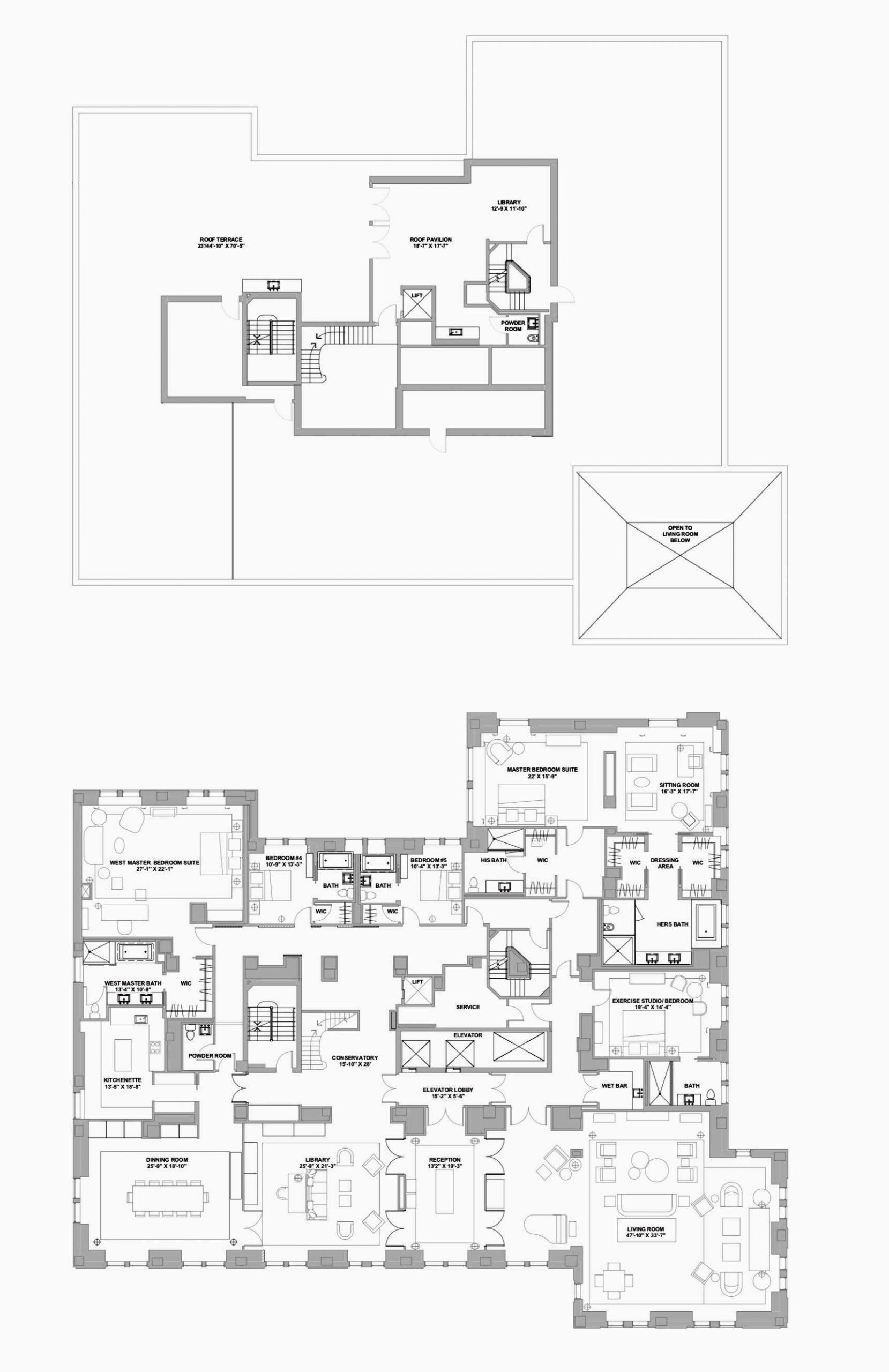 House Plans 10000 Square Feet Beautiful The Mark Hotel New York The Mark Penthouse Suite 10 000 House Plans How To Plan Square Feet