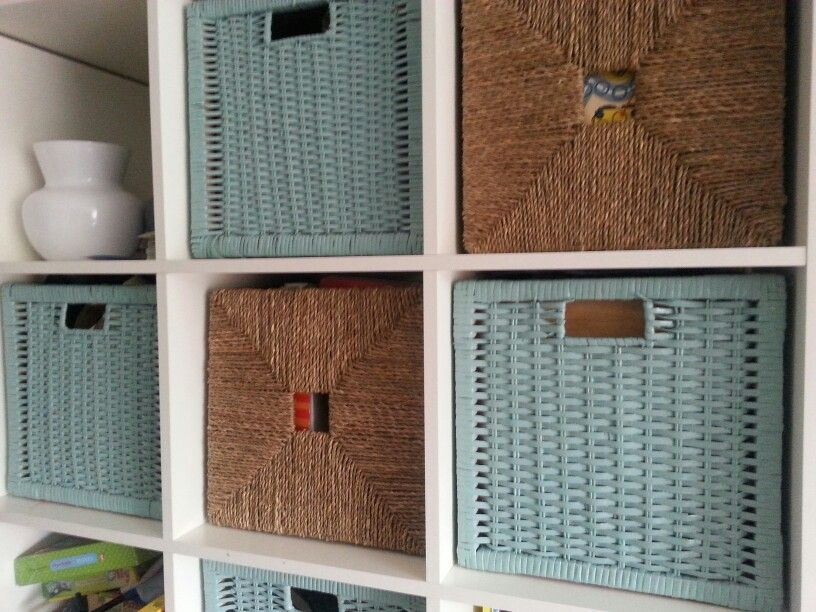 Ikea Hack Geschilderde Manden Expedit Kallax Kids Room