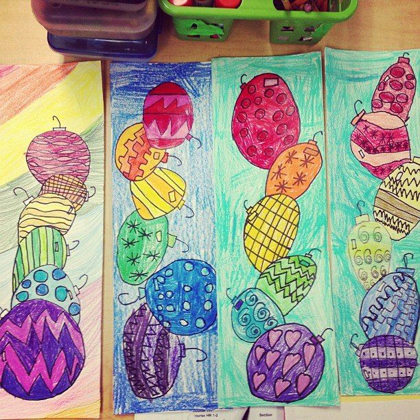 1/2 grade color wheel project. 8 classes a different object with ...