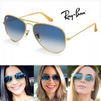 oculos ray ban aviator lente azul degrade