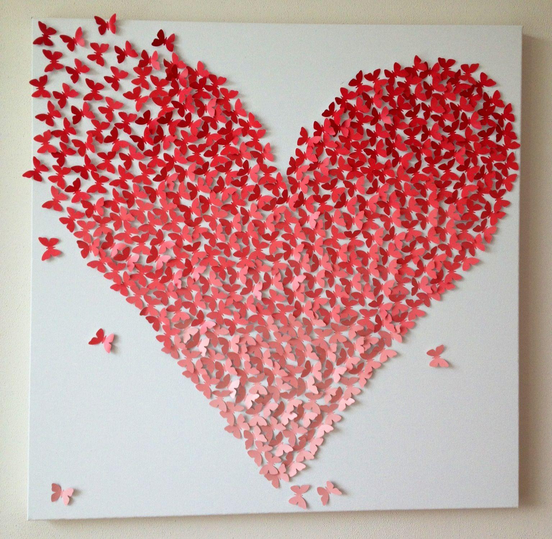Pin Op 3d Vlinder Canvas Doek Bruiloft Huwelijk Persoonlijk Cadeau Trouwcadeau Uniek Cadeau