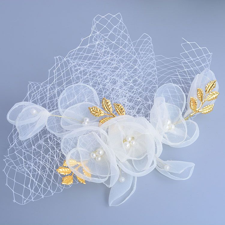 Bridal Headpiece Quality Pearl Hair Barrettes Directly From China Wedding Suppliers 2017 New Arrived Elegant Flower Shape Net
