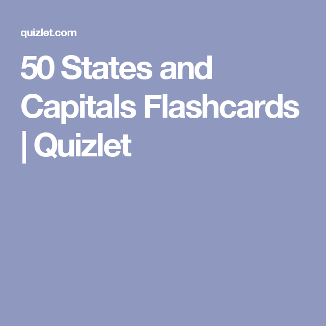 50 States and Capitals Flashcards | Quizlet | Homeschool