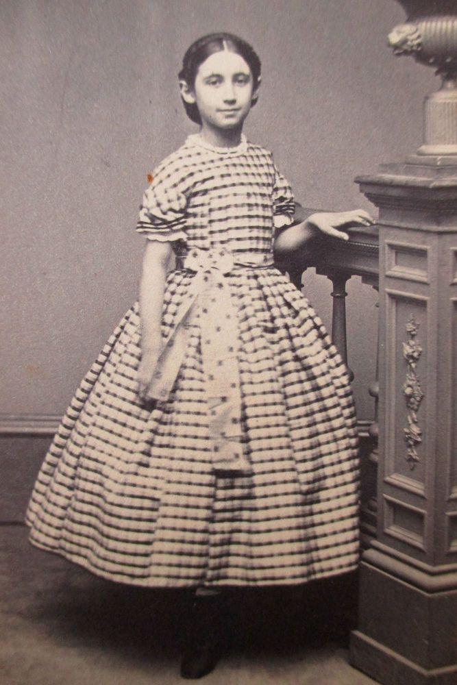 Cdv Photo Sweet Victorian Girl 1860s Civil War Era