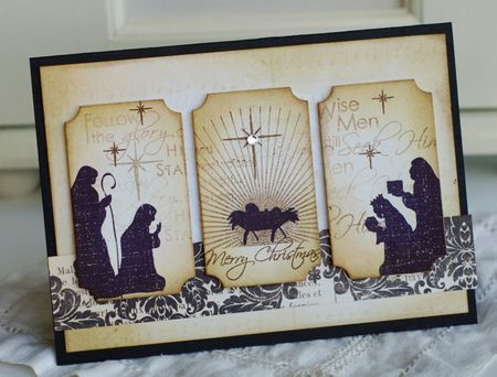 beautiful Christmas card from Betsy Veldman for Papertrey Ink