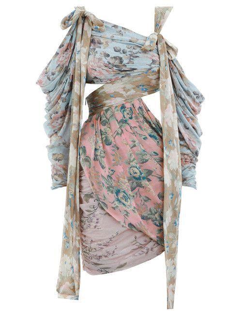 Florals in Fashion: Zimmermann Asymmetric Floral Mini Dress | Clothia
