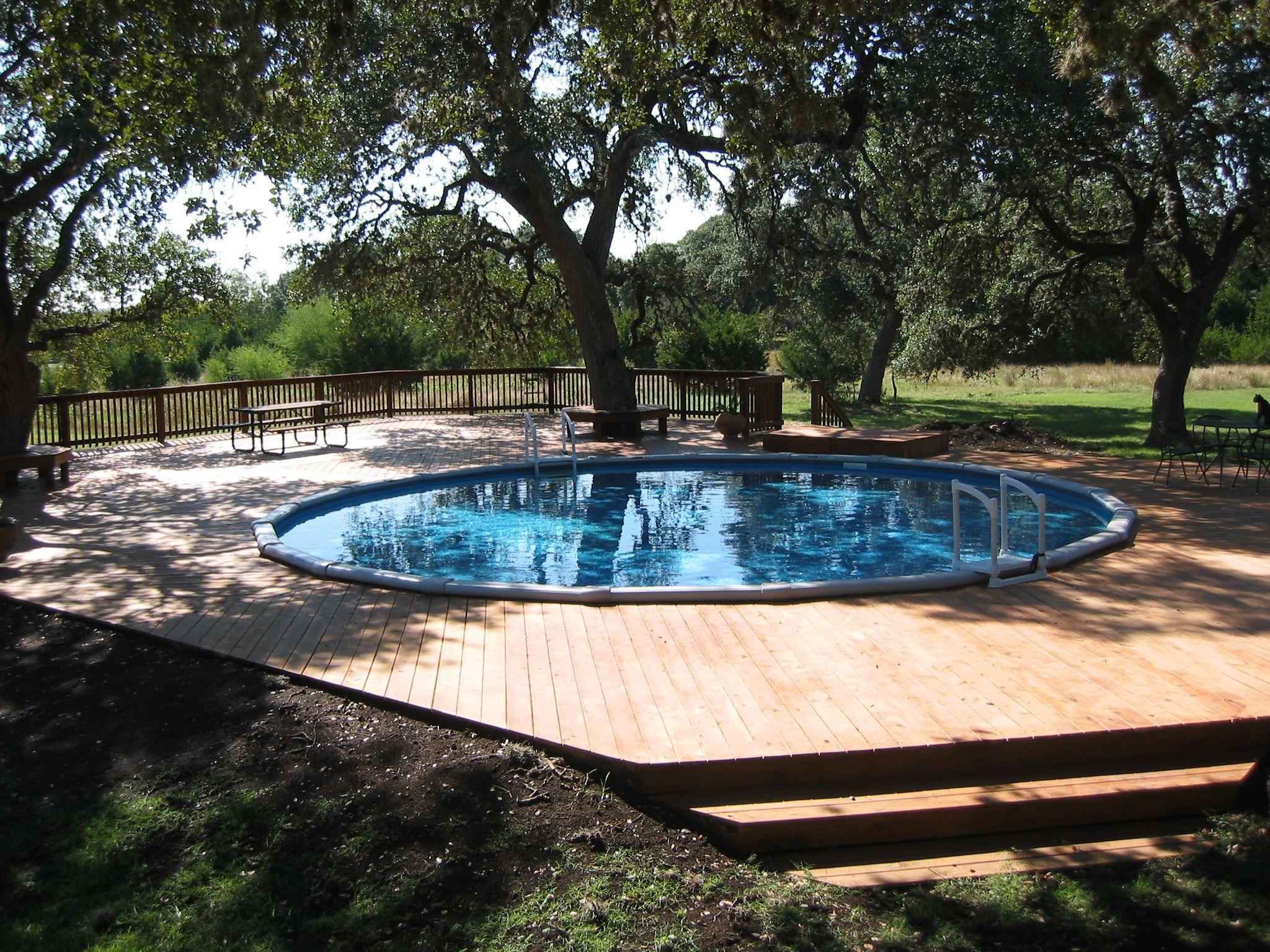 30 Round Above Ground Pool In San Antonio Texas Above