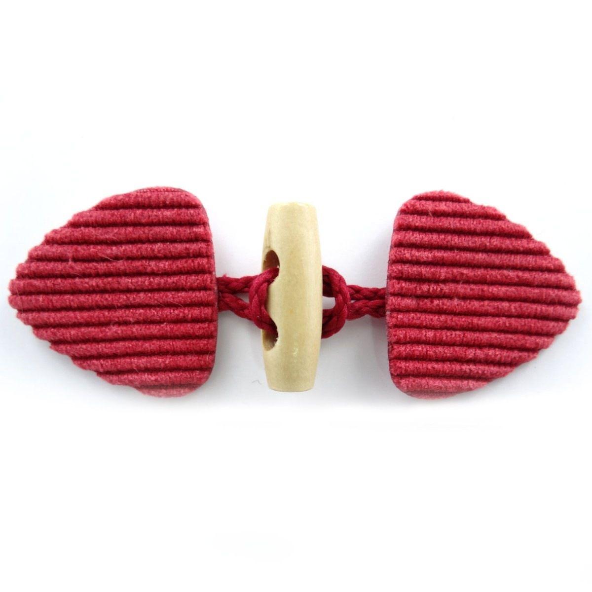 Brandebourg velours cotelé rouge Coloris - rouge - N019652XU/2004 : Attaches par la-mercerie-chic