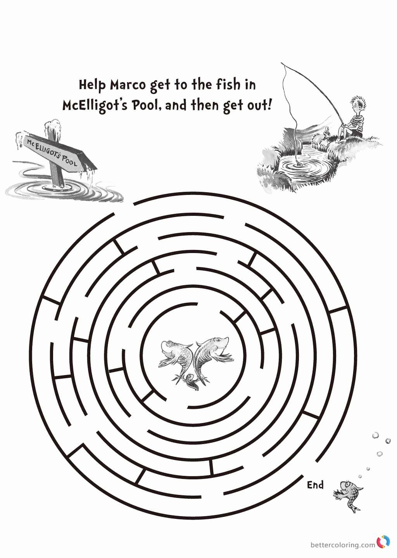 24 Dr Seuss Fish Coloring Page | Fish coloring page, Shape ...