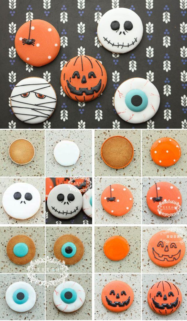 Halloween cookies graphic tutorials | Halloween sugar cookies #halloweencookiesdecorated
