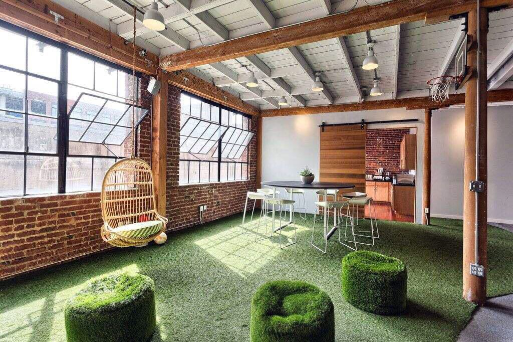 Outside inside nature biophilic design biophilic for Well designed office spaces
