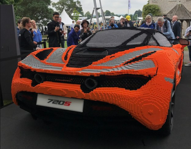 This Life Size Lego Mclaren 720s Actually Weighs More Than The Real Car