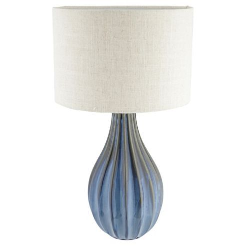 Buy buxton ceramic large table lamp sea blue from our table lamps buy buxton ceramic large table lamp sea blue from our table lamps range tesco mozeypictures Image collections