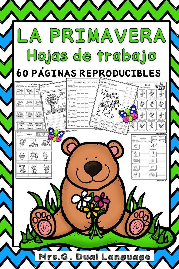 Primavera: Hojas de trabajo. Spring Literacy Packet in Spanish ...