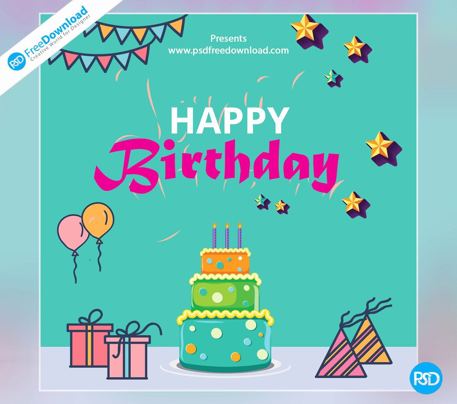 Birthday Card Free Template Fresh Happy Birthday Template Greeting Card Psd Free Downloa Birthday Card Template Free Unique Birthday Cards Happy Birthday Cards