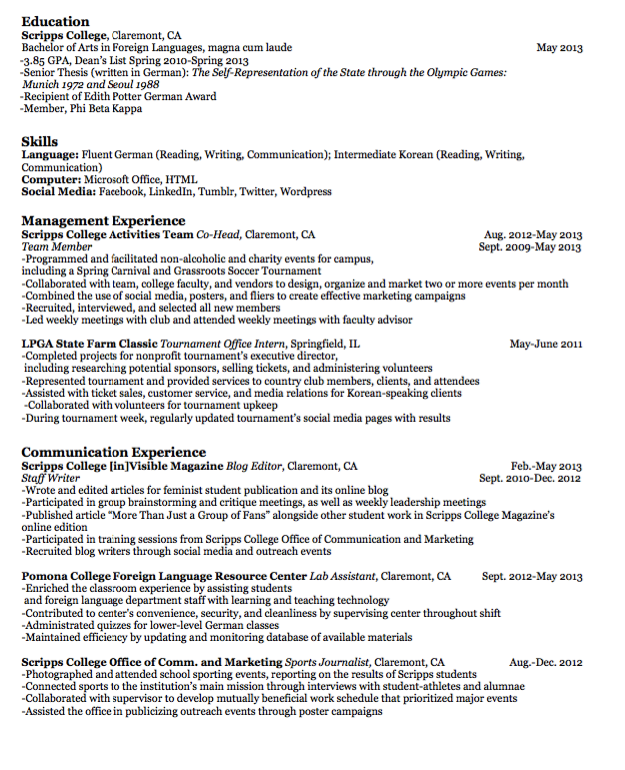 Sample Staff Writer Resume  HttpExampleresumecvOrgSample