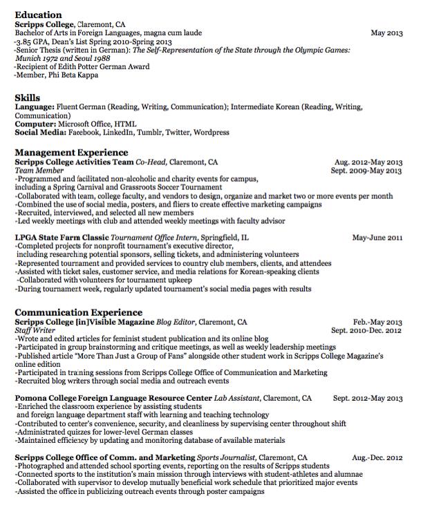 Sample Staff Writer Resume Examples Resume Cv