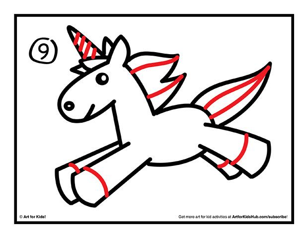 How To Draw A Unicorn For Kids Littles Pinterest Unicorn