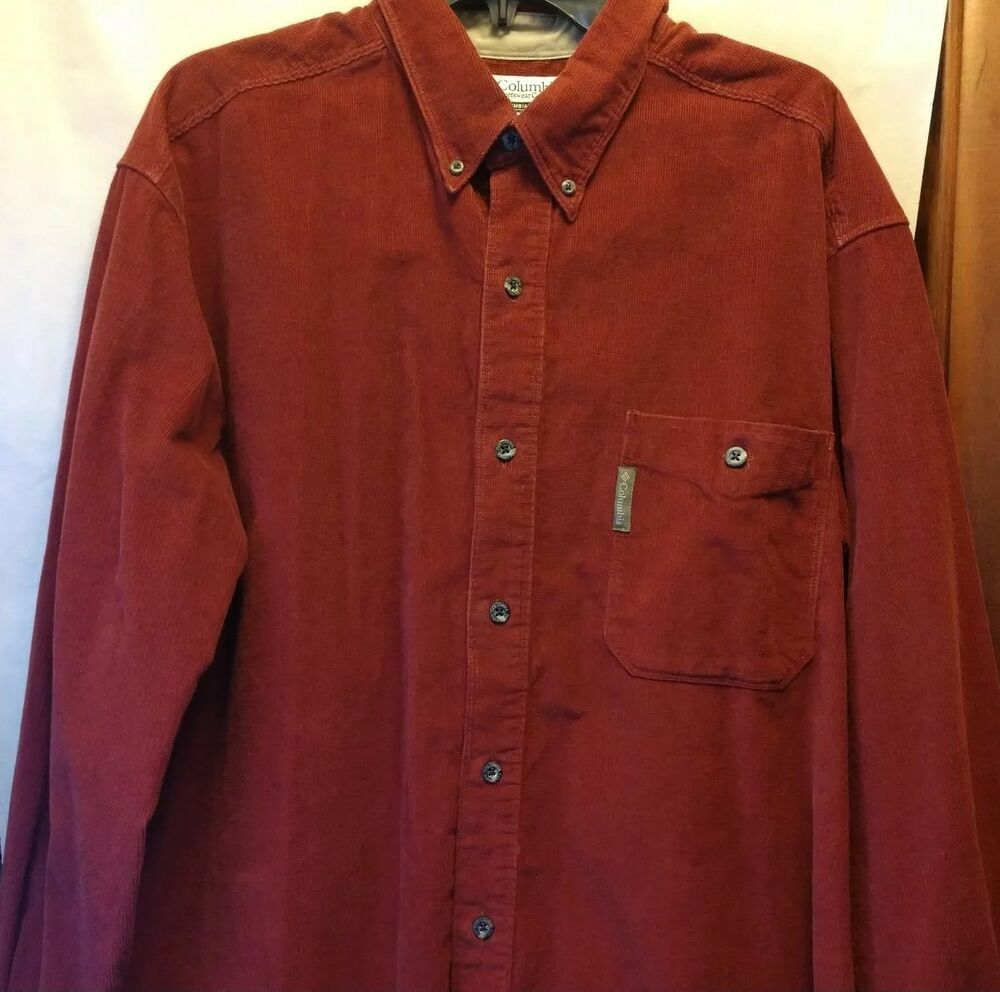 0e65d7b287e Columbia Mens Corduroy Shirt XXL 2X Burgundy 100% Cotton #fashion #clothing  #shoes #accessories #mensclothing #shirts (ebay link)