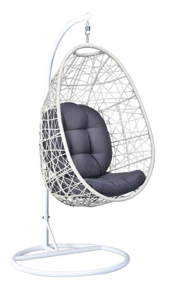 White/grey Wicker Hanging Swing Chair | HEMMA.sg U2013 Hemma Online Furniture  Store Singapore