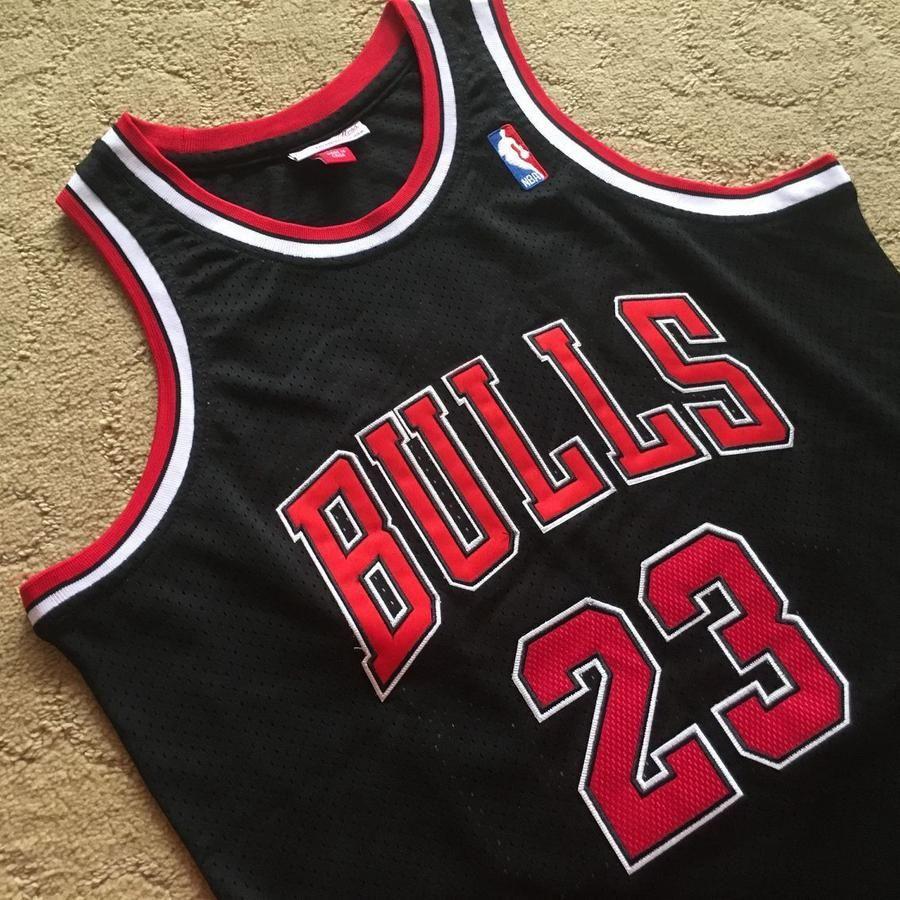 2019 NBA MICHAEL #23 JORDAN CHICAGO BULLS SWINGMAN JERSEY T-SHIRT BLACK