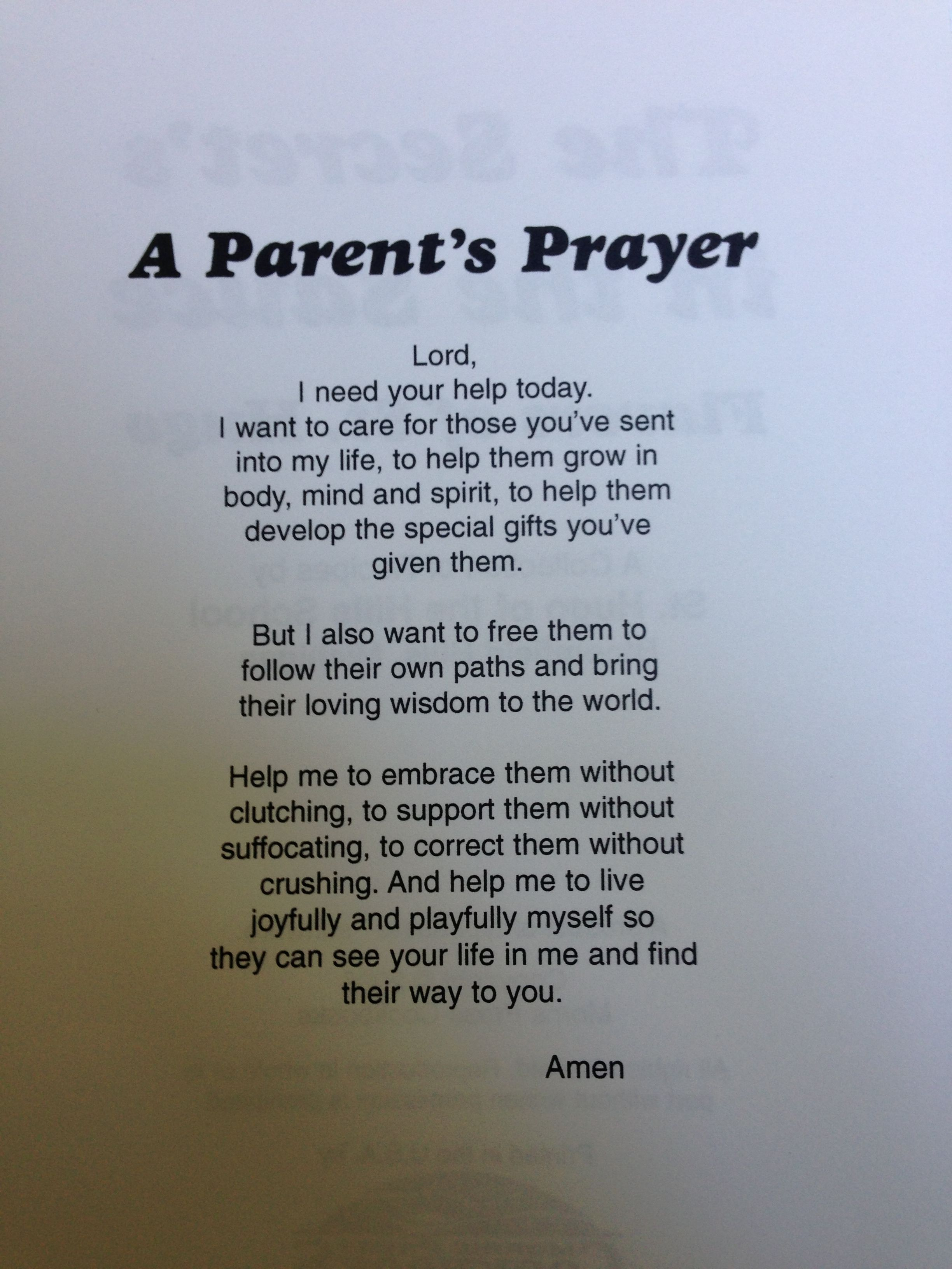 Prayers for divorced parents