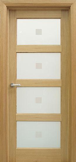 Contemporary 4 Lite White Oak Door 40mm Internal Doors Oak Doors Oak Doors Doors Interior Internal Doors