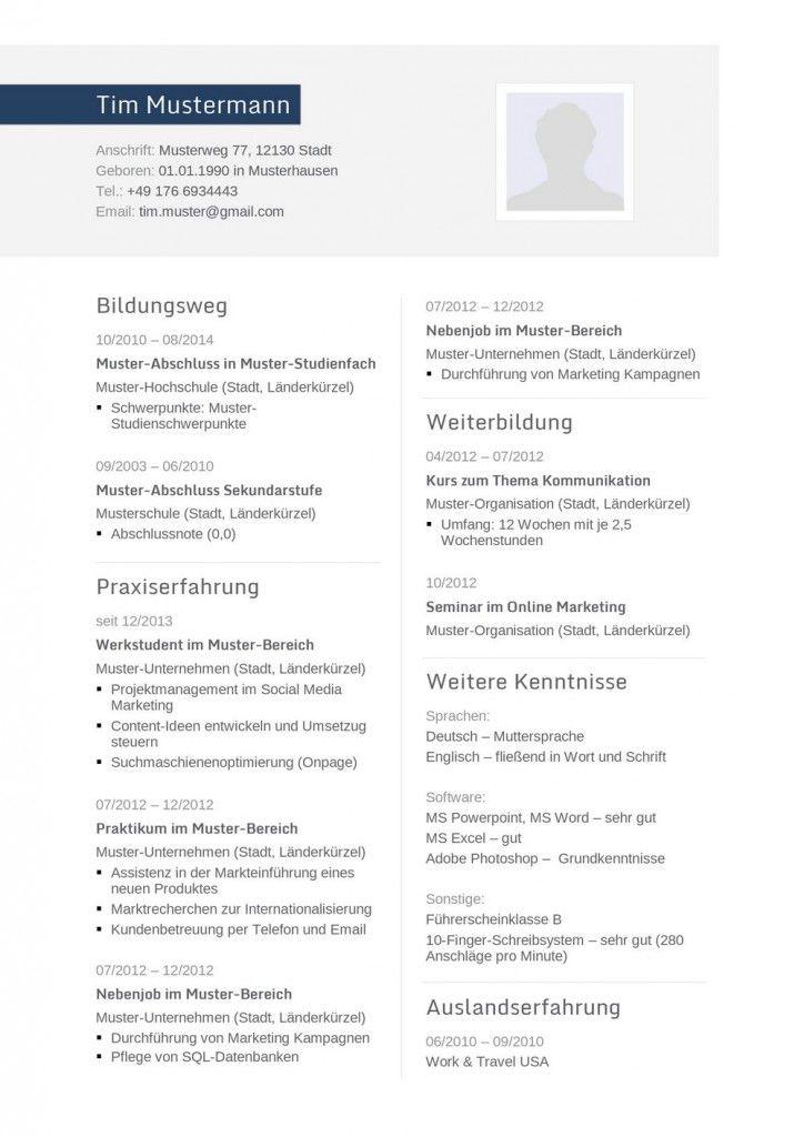 Moderne Lebenslauf Vorlage In Blau Mit Zweispaltigem Aufbau Zum Kostenlosen Download