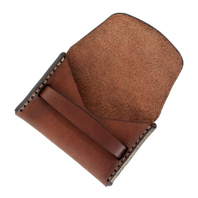 MAKR Flap Wallet in Saddle Tan. $120