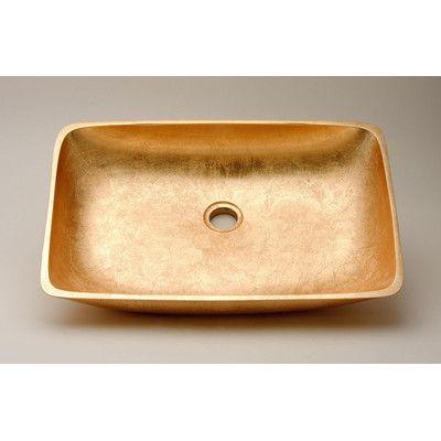 MaestroBath Vetro Freddo Net Bathroom Sink Sink Finish: Gold Leaf