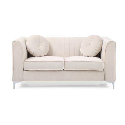 Mercer41 Adhafera Loveseat Sofa Upholstery Upholstery Love Seat