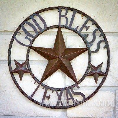 Texas Metal Art God Bless Texas - Texas Wall Decor   Deep In the ...