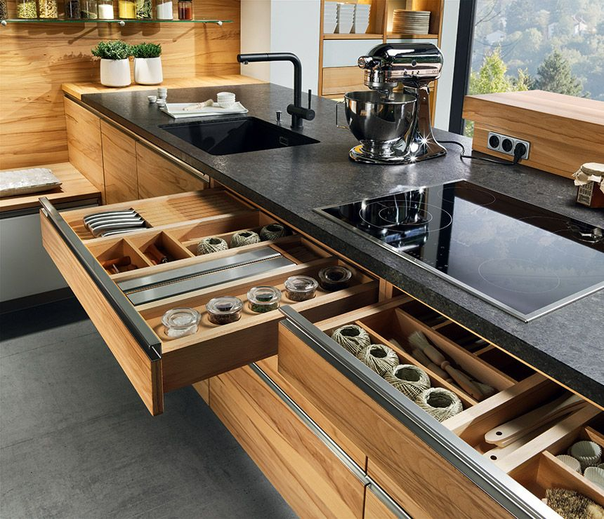 Linee Kitchen - The overall look is clean and modern, the horizontal - küchen team 7