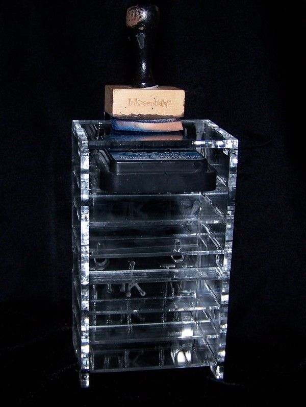 Ink it rack that keeps ink pads organized. stackable to to hold your stash of ink pads. TS Hobbies.com