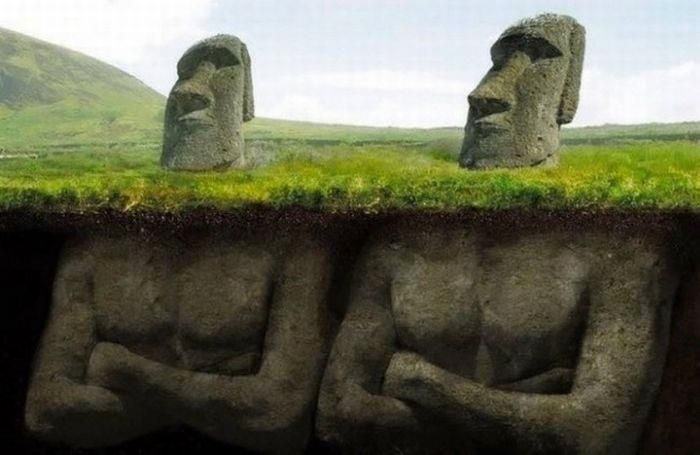 What's really under Easter Island Heads.