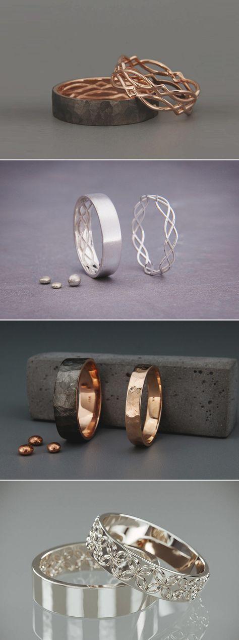 17 kreative personalisierte seine und ihre Versprechen Ringe für moderne Paare! – Cosplay – Ringe