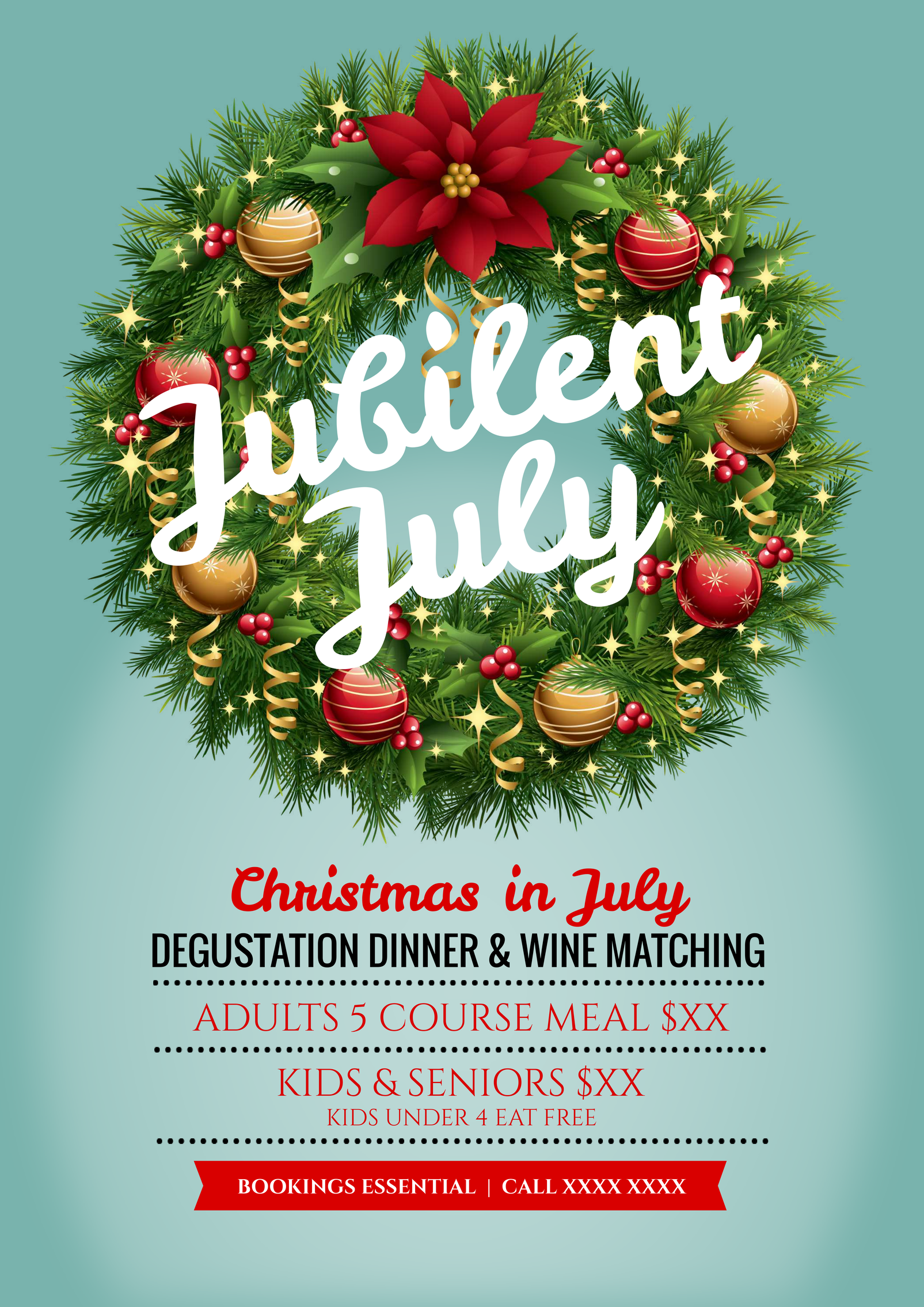 Celebrate Christmas In July With This Promotional Template For Your Venue Use This Existing Temp Diy Graphic Design Christmas Promotional Graphic Design Tools