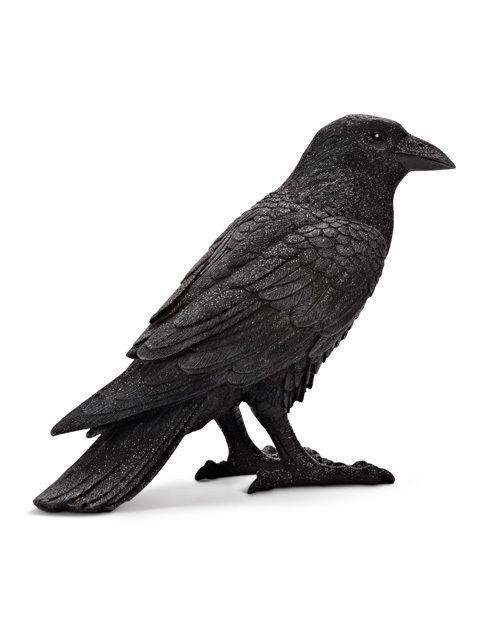 unique 8 black resin table top poe raven crow figure halloween decor zz15484 - Halloween Crows