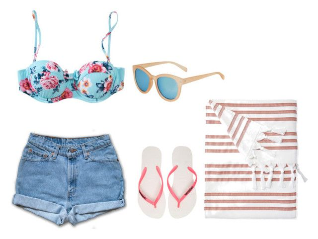 """Untitled #414"" by filipalexandra on Polyvore featuring Seafolly, Havaianas, Serena & Lily and Topshop"