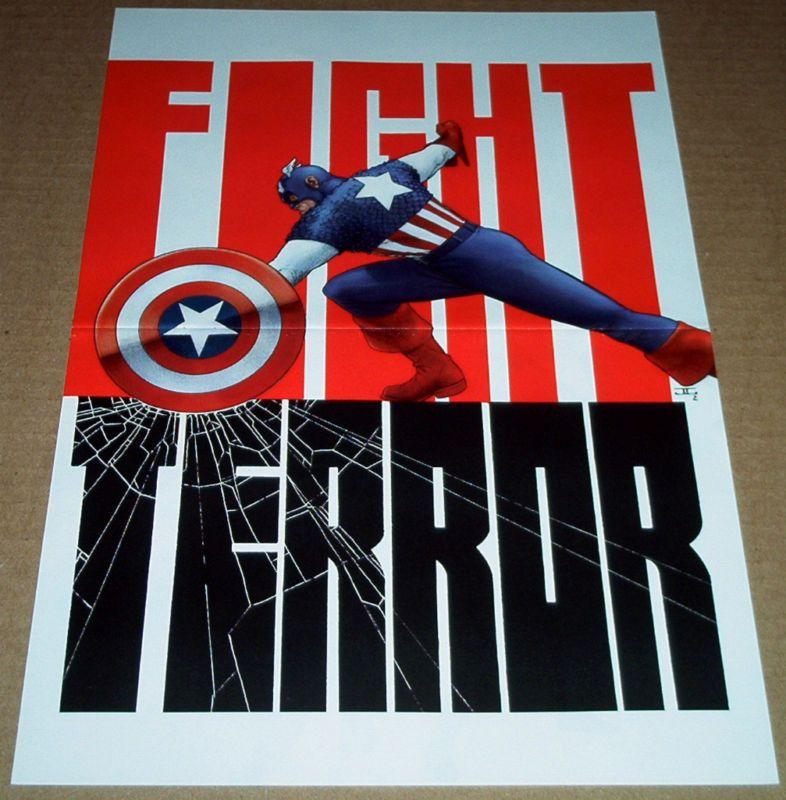 CAPTAIN AMERICA 2 POSTER FIGHT TERROR JOHN CASSADAY AVENGERS MARVEL STEVE ROGERS