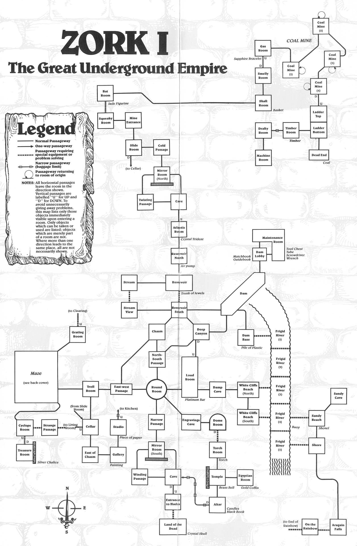 Zork I Map 1