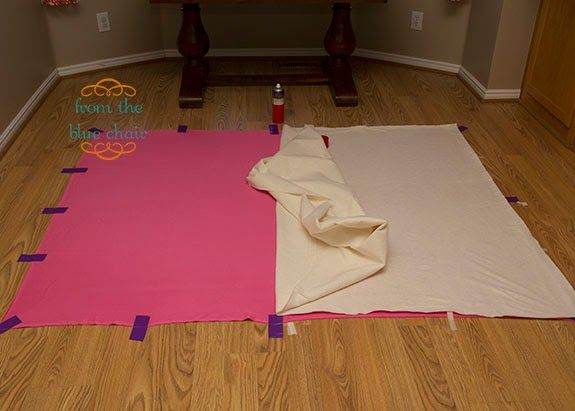 from the blue chair: Free Motion Quilting--Basting the Quilt